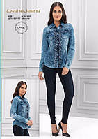 Рубашка женская Джинсовая Длинный рукав Dishe (XL)