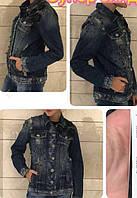 Джинсовая куртка женская на пуговицах AMN (M, L)