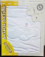 """Велюровое одеяло """"мишка и звездочки"""" Тигрес ВО-0021"""