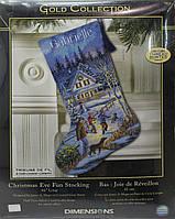DIMENSIONS Набор для вышивания Christmas Eve Fun Stocking / Рождественский сапожок