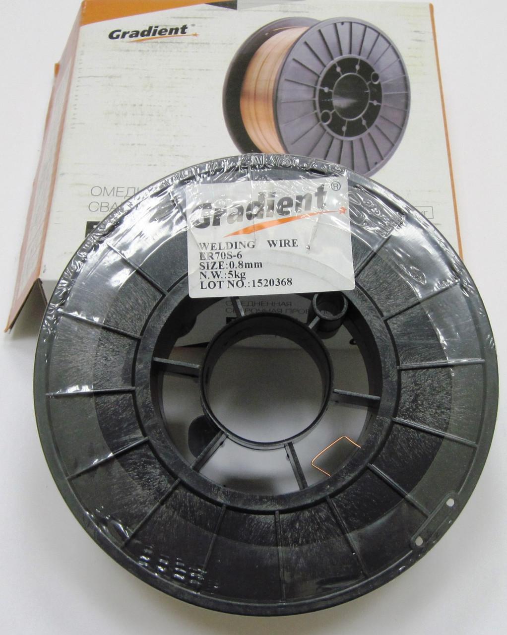 Омедненная проволока(СВ08Г2С) ER70S-6 д. 1,6 мм, кассета 5кг