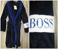 Детский махровый халат на мальчика BOSS.