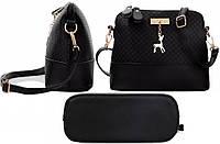 Женская черная сумочка Бэмби Bembi, фото 1