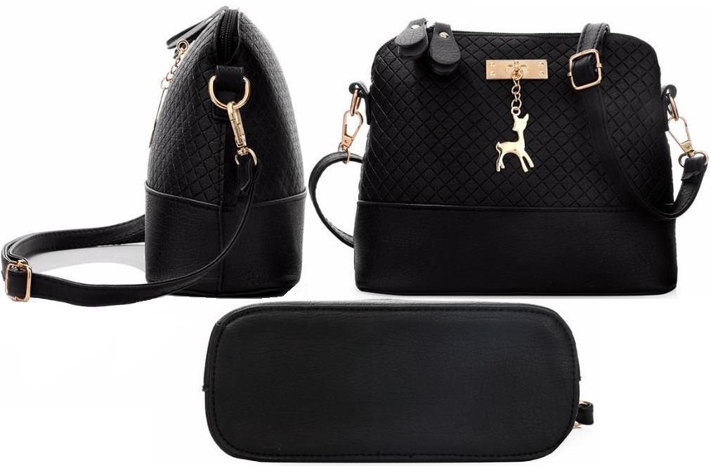 Женская черная сумочка Бэмби Bembi