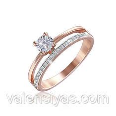 Серебряное кольцо с позолотой К3Ф/235