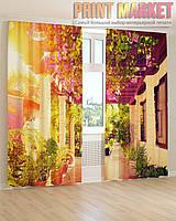 Фото шторы цветочная терраса