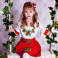 Платье вышитое  на девочку 1-12 лет