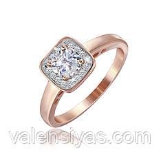 Серебряное кольцо с позолотой К3Ф/237