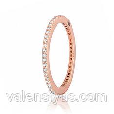 Кольцо позолоченное из серебра К3Ф/242