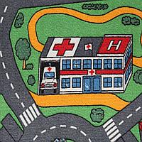 Детская ковровая дорожка Сити Лайф 3, Сити Лайф, войлочная, полиамид, 5 мм, Серо-зеленый, 4.0 х (нужная длина)