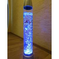 Воздушно-пузырьковый светильник с рыбками, 38 см