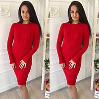 Модное облегающее платье в расцветках 614 (8824)