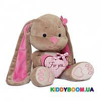 Мягкая игрушка Jack&Lin Зайка Лин с сердечком JL-001-25
