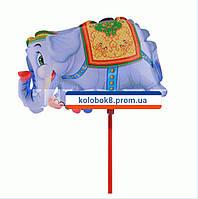 """Надувной шарик на палочке """" Слон"""" 20 см."""