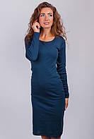 Платье женское миди, повседневное  №AG-0002946 Темно-синий