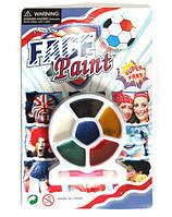 """Краски для лица """"Super Fan"""" 6 цветов + спонж"""