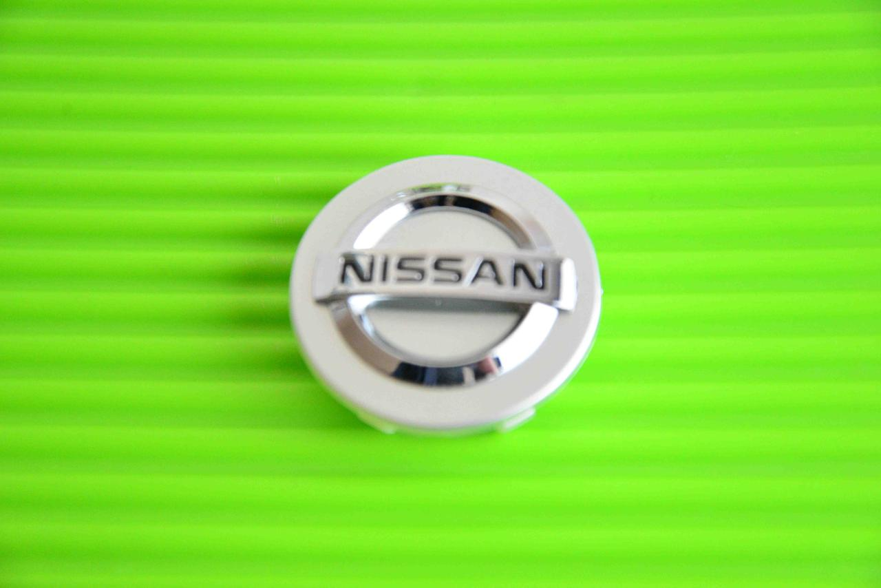 Колпачки заглушки на диск в диск Nissan Ниссан 55/50/10 серебро
