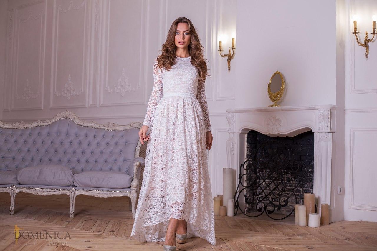 94ff2b4eb20fd9e Новогодняя коллекция! Нежное, женское платье-макси в романтическом стиле  (гипюр и масло