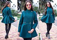 Женское красивое пальто демисезон из кашемира *Баска* на пуговицах,очень красивое