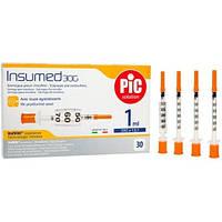 Инсулиновые шприцы INSUMED  1 мл с иглой 30G х 8 мм (30 шт.)