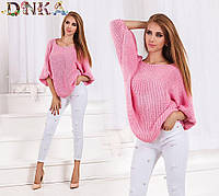 Женский свитер с рукавом летучая мышь, 2 цвета  арт 2260-1