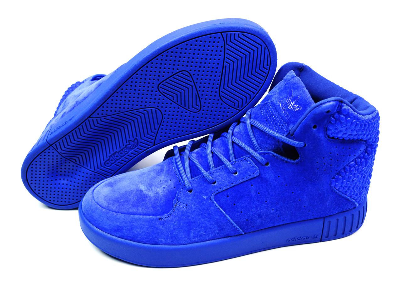 e1b395c0 Яркие мужские кроссовки Adidas Originals Tubular Invader Strap 2.0 Blue, ...