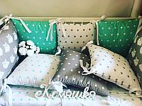 Бортики с совушками в кроватку