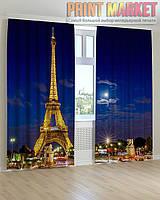 Фото шторы Эйфелева Башня вечером