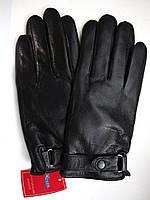 Перчатки мужские кожанные черные