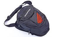 Мото сумка набедренная с логотипом HONDA (25х21х9см, черный), фото 1