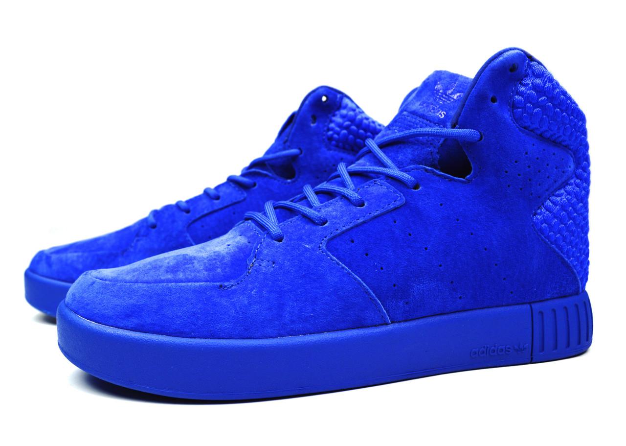 d23f249a ... Яркие мужские кроссовки Adidas Originals Tubular Invader Strap 2.0  Blue, ...