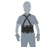 Ремень поддерживающий с подтяжками, вентилируемый, XL