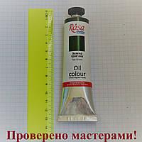 Краска масляная, Травяная зеленая (525), 60мл, ROSA Studio