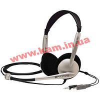 Наушники KOSS с микрофоном кабель 2,4м 30-16000Гц разъем 3,5мм титан Наушники KOSS CS100 с м
