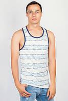 Майка-борцовка мужская бело-голубая AG-0003666 Бело-синий