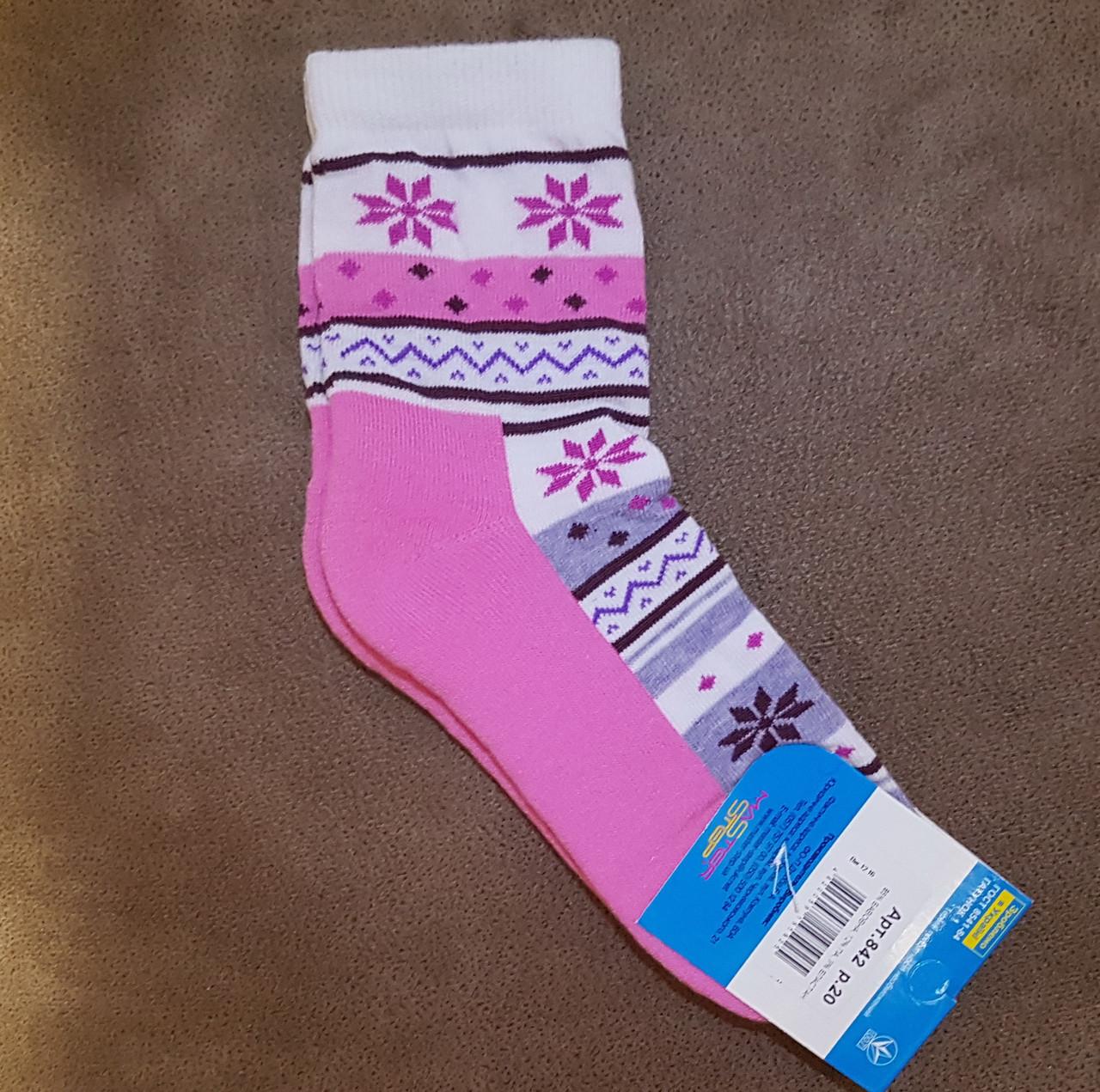 Носки с махровой ступней, размер 20 /30-32р.