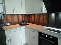 Стеклянный закалённый кухонный фартук с изображением леса.