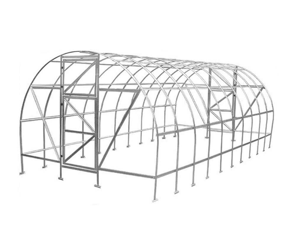 Теплица Оскар Господарка 12м² (200х600х200см) Каркас Под Сотовый Поликарбонат