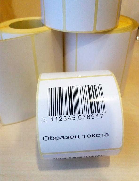 Термо и термотрансферная печать на самоклеющихся этикетках в рулоне