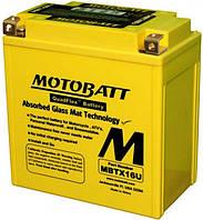 Аккумулятор залитый и заряженный Motobatt MBTX16U