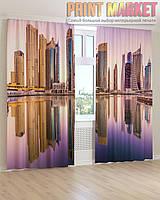 Фото шторы отражение высоких зданий