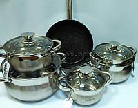 Набор посуды Bohmann BH 0522 из нержавеющей стали 12 предметов