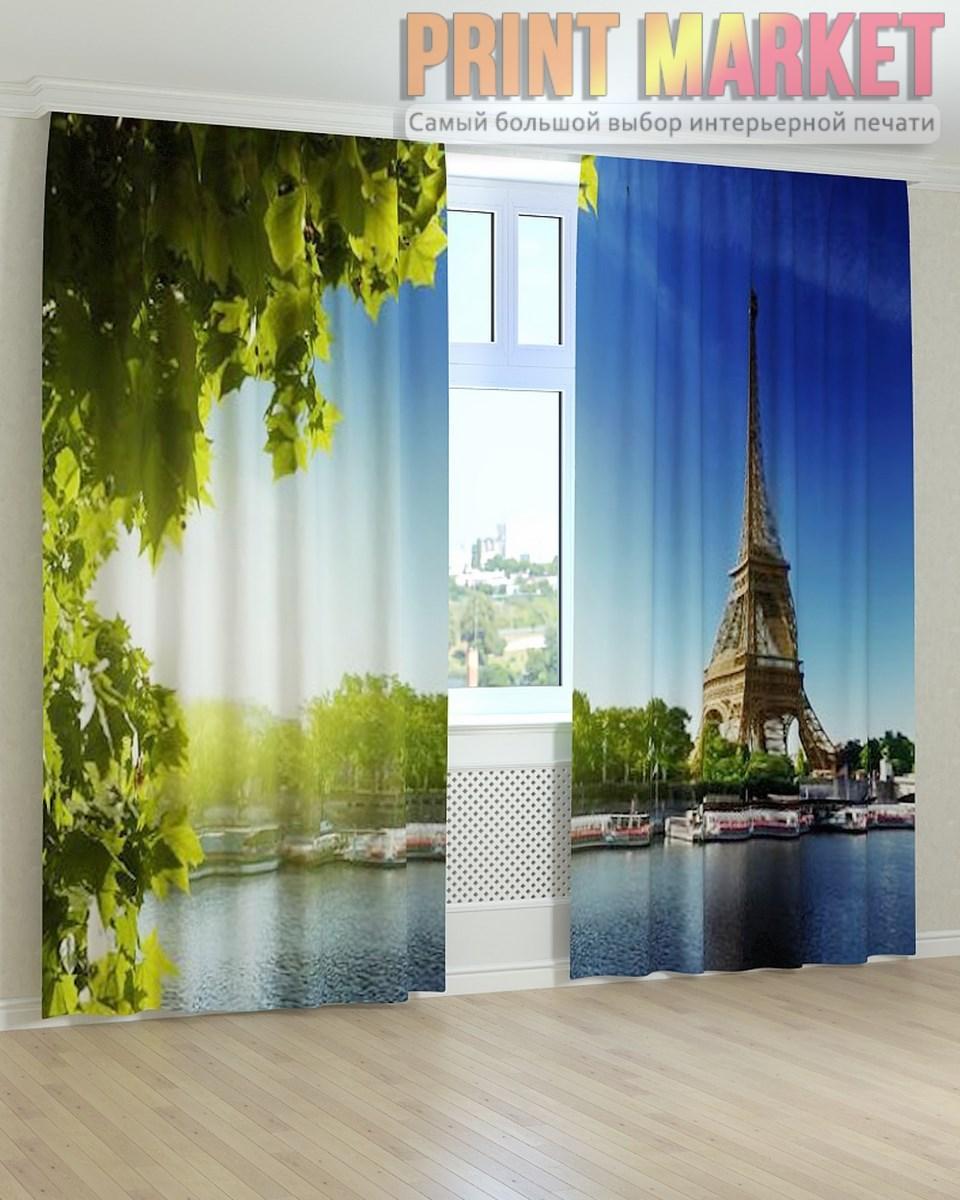 Фото шторы Эйфелева Башня и лодки