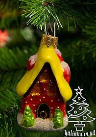 Стеклянная елочная игрушка Пряничный домик 1831