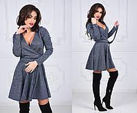 Женское платье по колено  MIYA цвет Серый