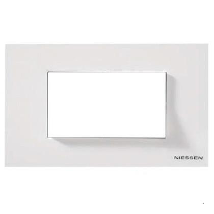 Рамка 4 мод. итальянский стандарт ABB Zenit Белый N2474 BL