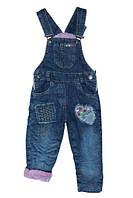 Комбинезон джинсовый для девочки, утепленный,р.92,Турция