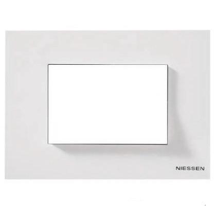 Рамка 3 мод. італійський стандарт ABB Zenit Білий N2473 BL