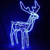 Олень новогодний светящийся,фигуры оленя,СВЕТОДИОДНЫЙ 3D БЕЛЫЙ ОЛЕНЬ