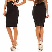 Женская юбка карандаш  по колено  HELGA 2 цвет Черный